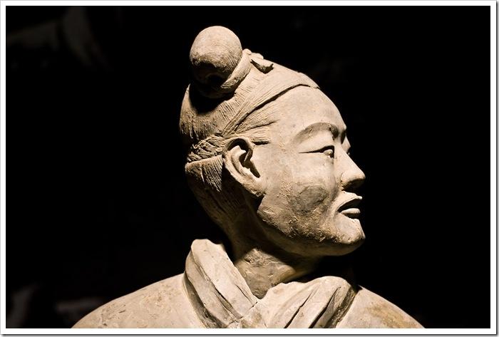 Armia terakotowa Terracotta Army Qin Shi Huang Xi'an Figury grobowe żołnierzy i koni Made in rpc Chiny Daniel Guzik Guziki Button